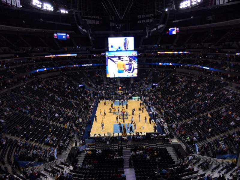 Seating view for Pepsi Center Section 321 Row 3 Seat 9