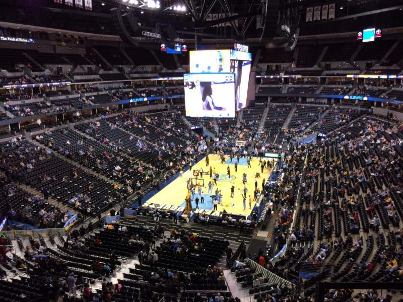 Seating view for Pepsi Center Section 317 Row 2 Seat 1