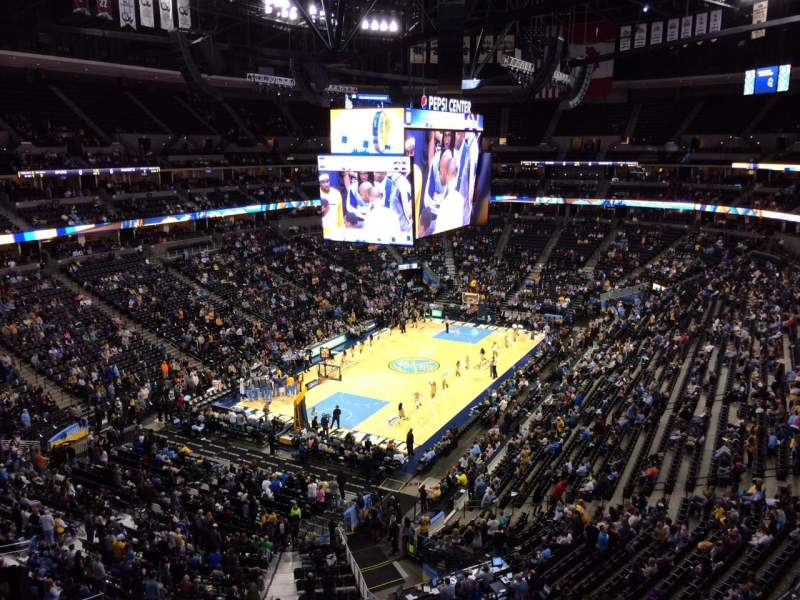 Seating view for Pepsi Center Section 353 Row 3 Seat 20