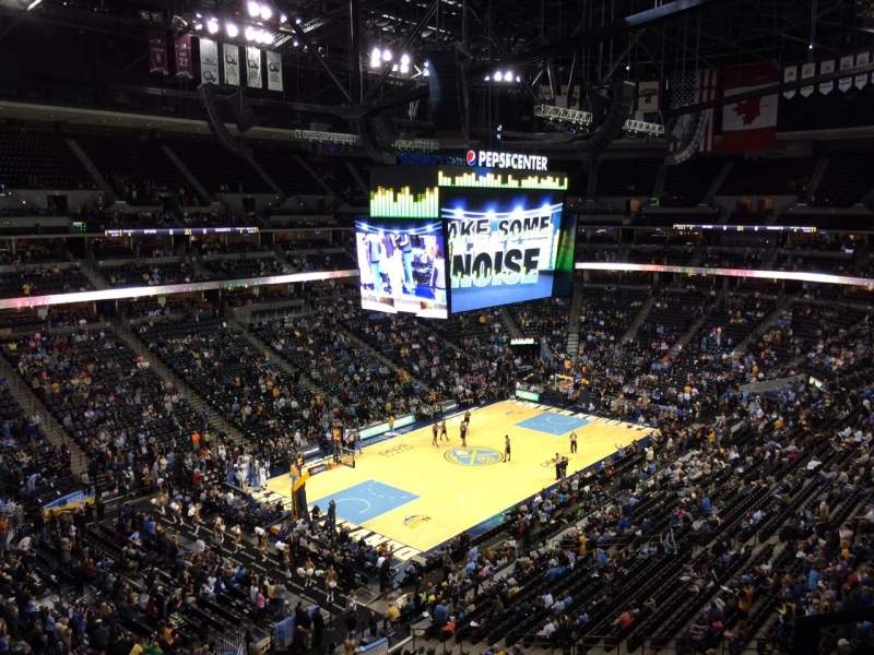 Seating view for Pepsi Center Section 351 Row 2 Seat 1