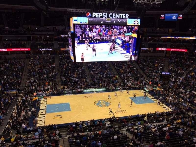 Seating view for Pepsi Center Section 343 Row 3 Seat 20