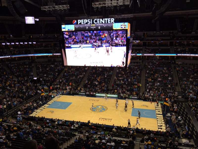 Seating view for Pepsi Center Section 339 Row 2 Seat 20