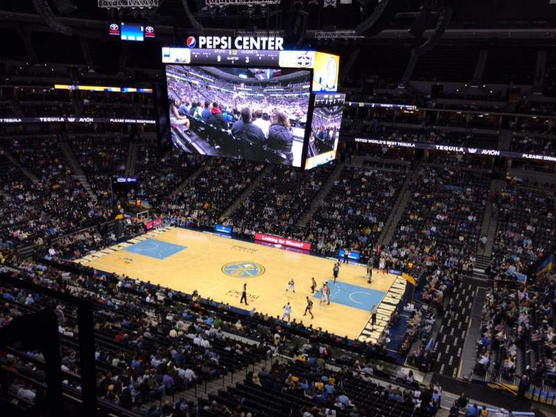 Seating view for Pepsi Center Section 335 Row 3 Seat 20