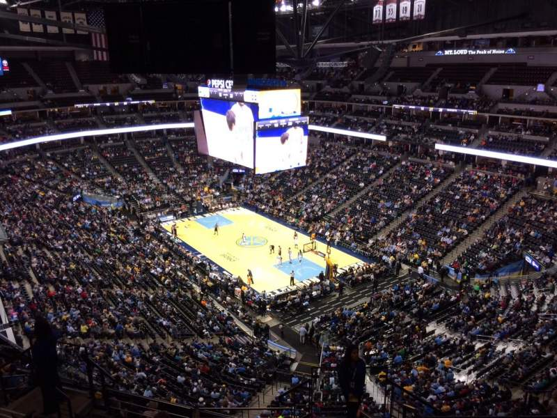 Seating view for Pepsi Center Section 370 Row 12 Seat 1