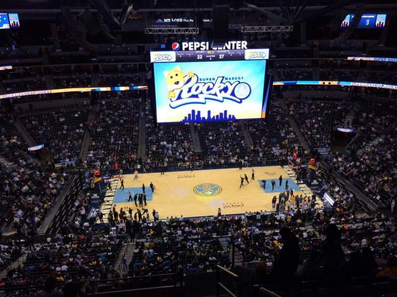Pepsi Center, section: 304, row: 12, seat: 1