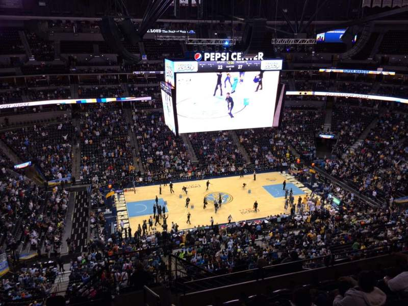 Seating view for Pepsi Center Section 306 Row 12 Seat 1