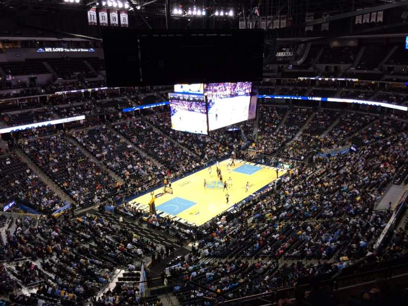 Seating view for Pepsi Center Section 314 Row 12 Seat 1
