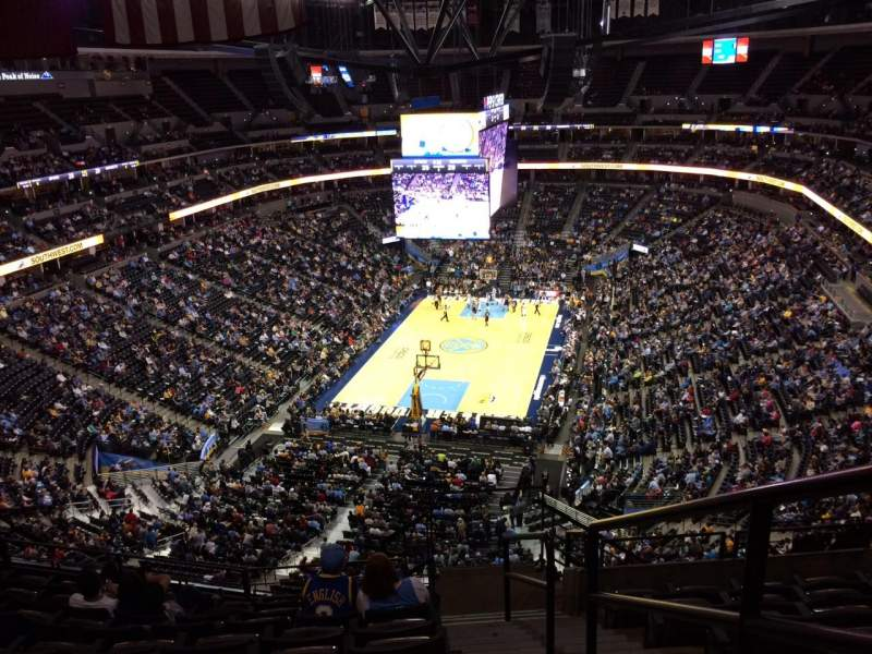 Seating view for Pepsi center Section 320 Row 12 Seat 1