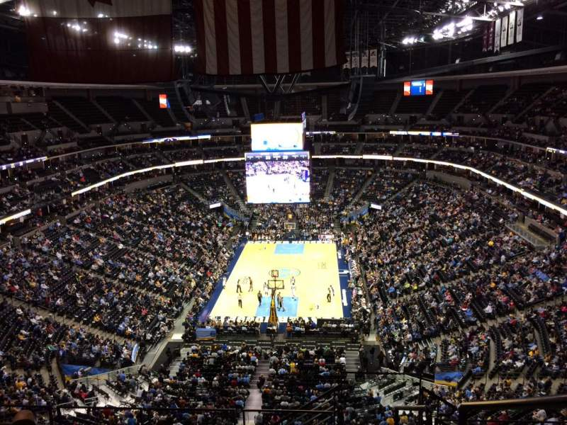 Pepsi Center, section: 322, row: 12, seat: 1