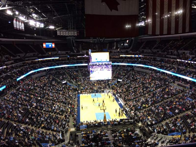 Seating view for Pepsi Center Section 324 Row 12 Seat 1