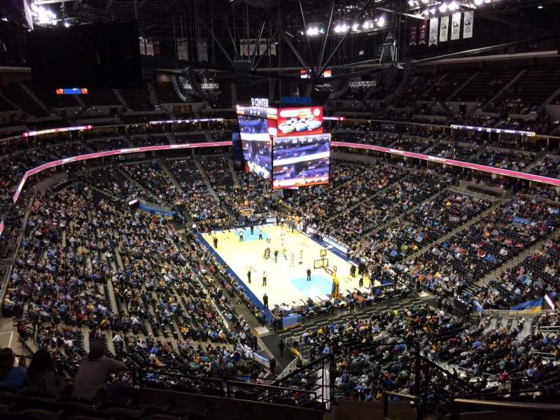 Seating view for Pepsi Center Section 328 Row 12 Seat 1