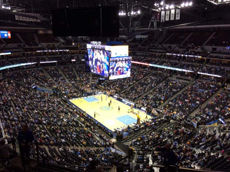Seating view for Pepsi Center Section 330 Row 12 Seat 1