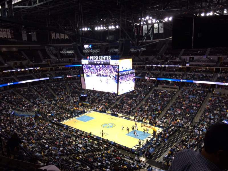 Seating view for Pepsi Center Section 334 Row 12 Seat 1