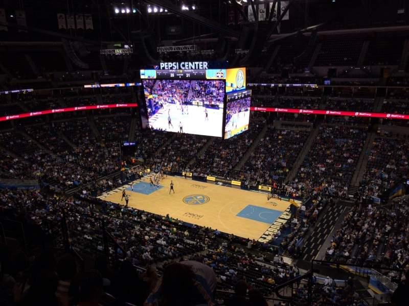 Pepsi Center, section: 336, row: 10, seat: 1