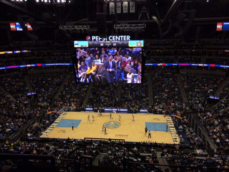 Seating view for Pepsi Center Section 340 Row 10 Seat 20