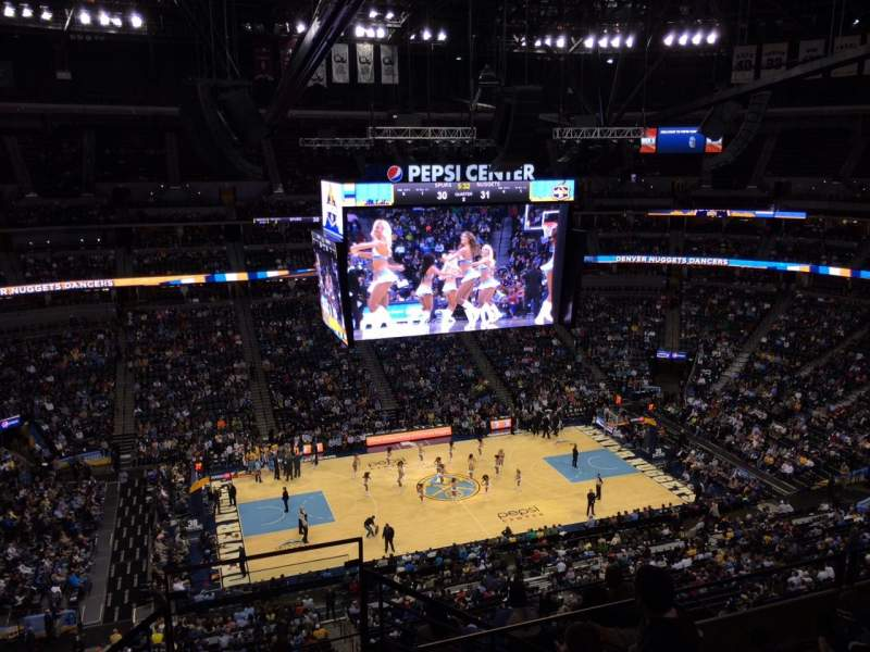 Pepsi Center: Pepsi Center, Section 346, Row 10, Seat 1
