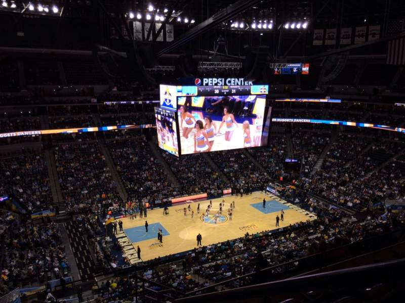 Seating view for Pepsi Center Section 348 Row 10 Seat 1