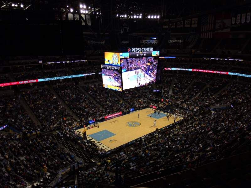 Pepsi Center, section: 352, row: 12, seat: 1