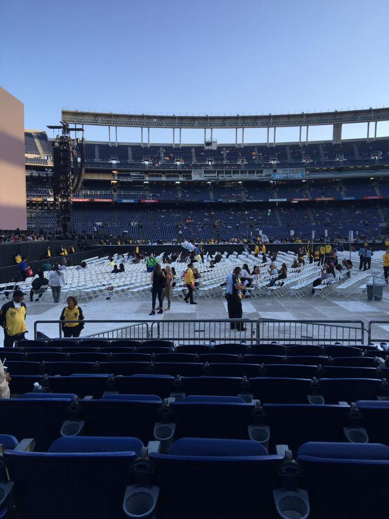 Seating view for Qualcomm Stadium Section F5 Row 9 Seat 7