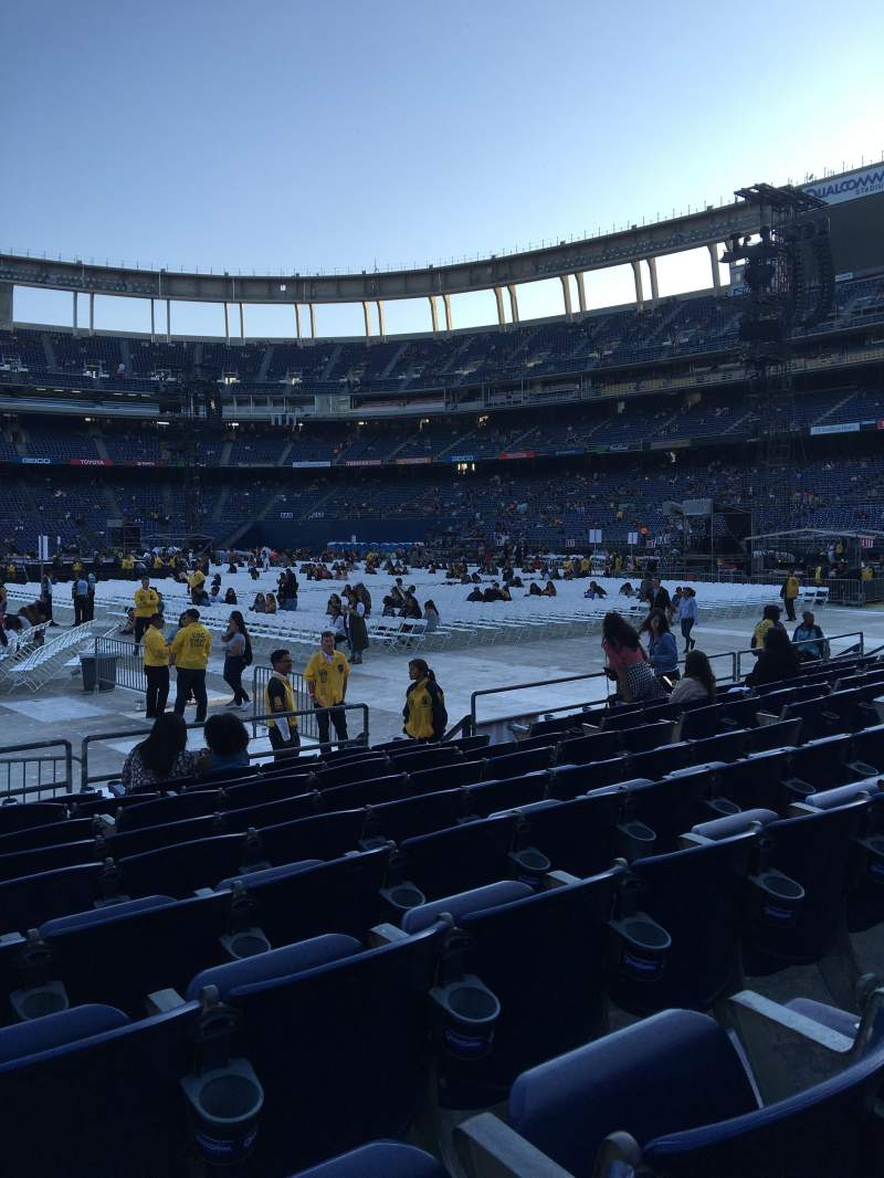 Seating view for Qualcomm Stadium Section F5 Row 9 Seat 6,7