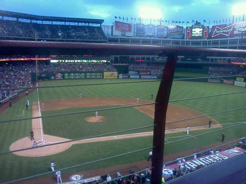 Seating view for Globe Life Park in Arlington Section 230 Row 1 Seat 12