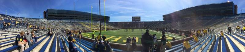 Seating view for Michigan Stadium Section 33 Row 6 Seat 9