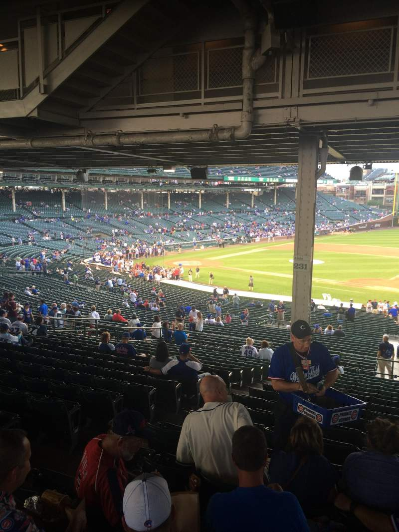 Seating view for Wrigley Field Section 231 Row 18 Seat 5
