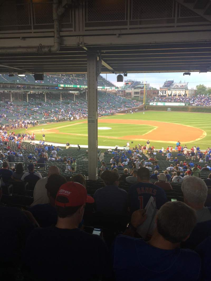 Seating view for Wrigley Field Section 231 Row 18 Seat 6