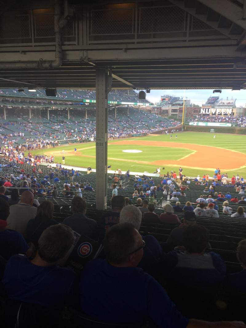 Seating view for Wrigley Field Section 231 Row 18 Seat 8