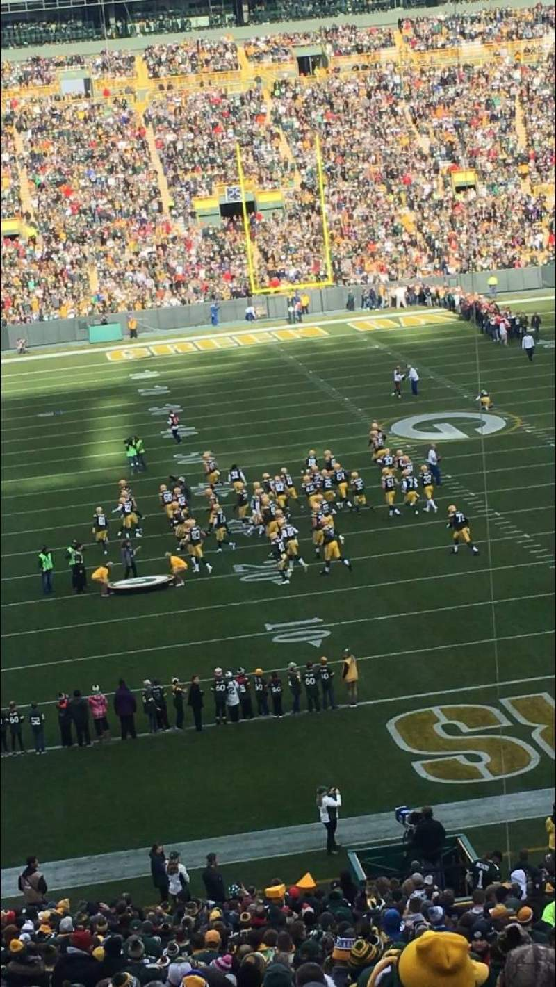 Seating view for Lambeau Field