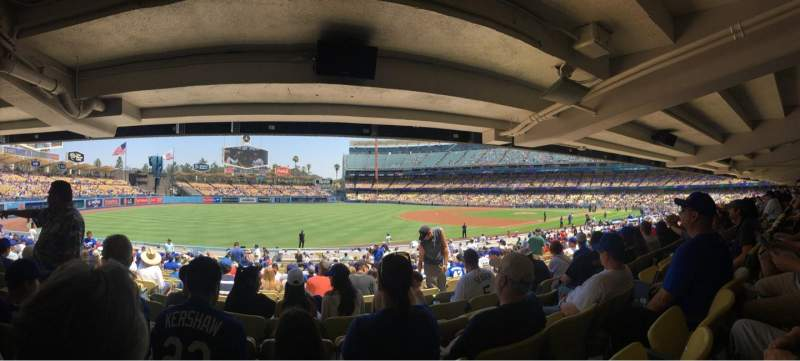 Seating view for Dodger Stadium Section 41FD Row X Seat 5