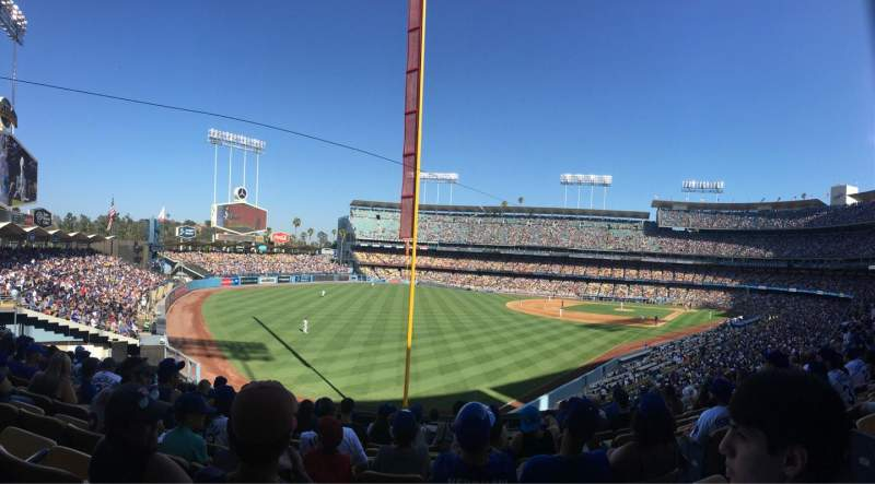 Seating view for Dodger Stadium Section 163LG Row K Seat 5