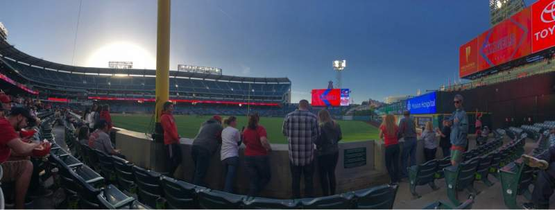 Seating view for Angel Stadium Section F133 Row C Seat 12