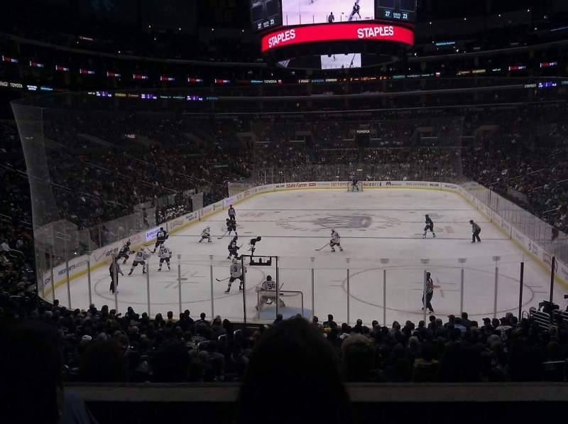 Seating view for Staples Center Section 216 Row 3 Seat 7
