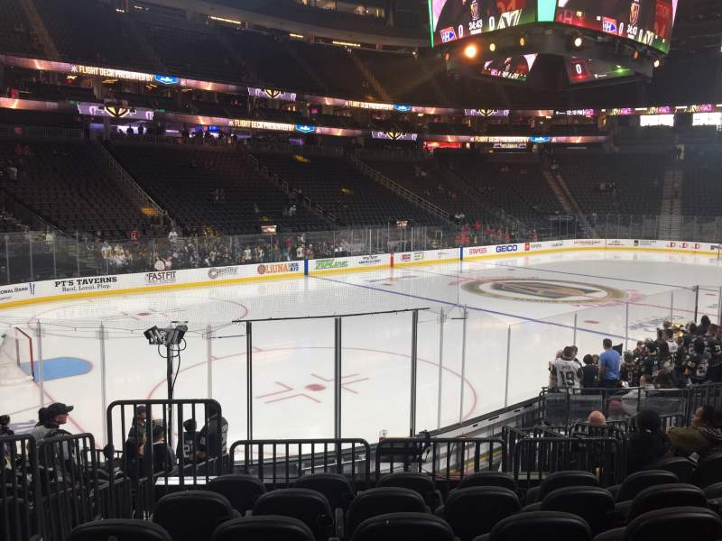 Seating view for T-Mobile Arena Section 3 Row L