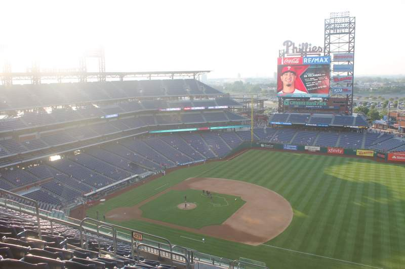 Seating view for Citizens Bank Park Section 413 Row 14