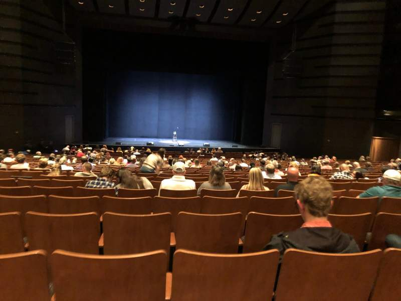 Seating view for Bass Concert Hall Section Orchestra Row Y Seat 121