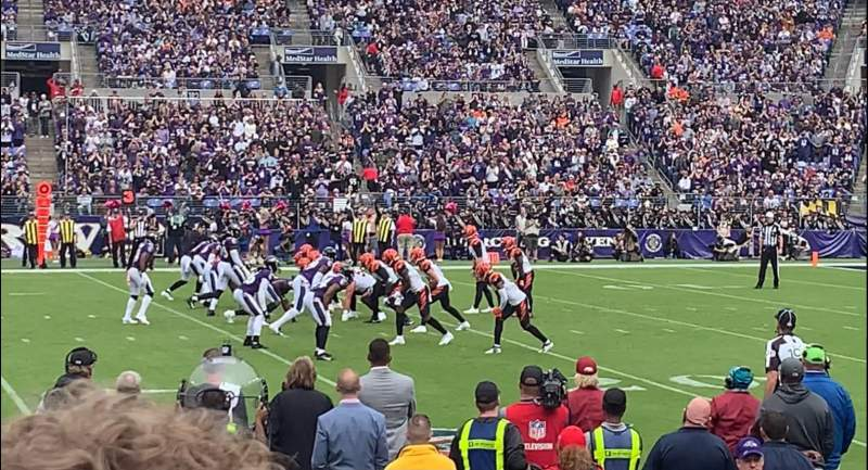 Seating view for M&T Bank Stadium Section 125 Row 5 Seat 12