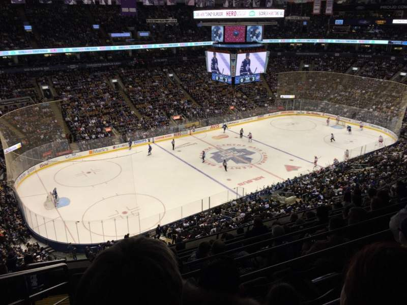 Seating view for Air Canada Centre Section 323 Row 9 Seat 25