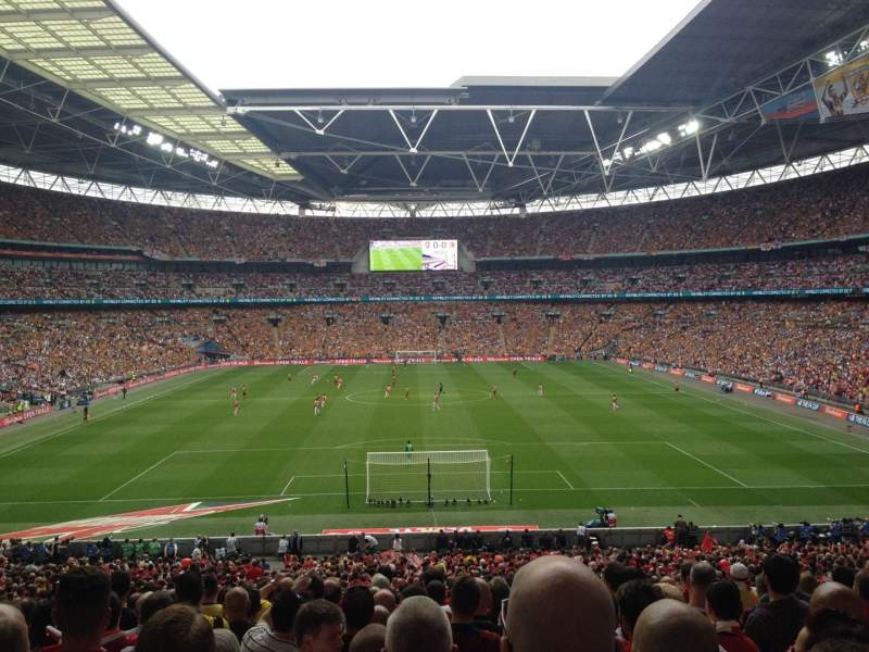 Seating view for Wembley Stadium Section 134 Row 43 Seat 1