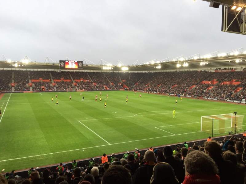Seating view for St Mary's Stadium Section 45 Row Y Seat 1181