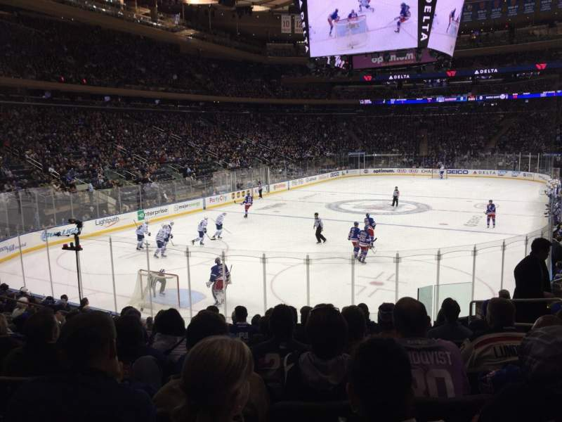 Seating view for Madison Square Garden Section 103 Row 14 Seat 14