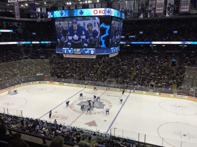 Seating view for Air Canada Centre Section 320 Row 4 Seat 5