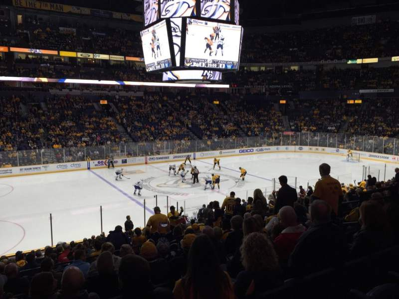 Seating view for Bridgestone Arena Section 114 Row K Seat 9