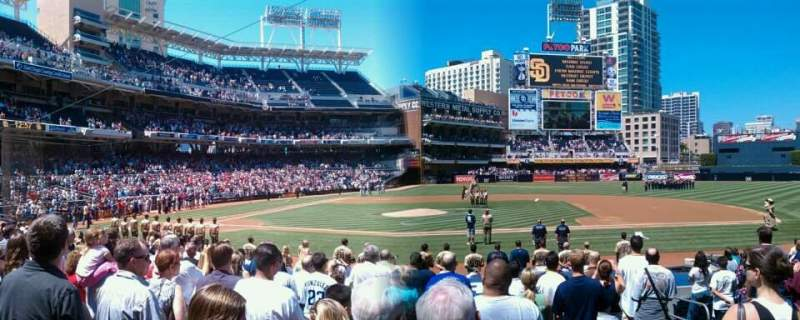 Seating view for PETCO Park Section 109 Row 12 Seat 5