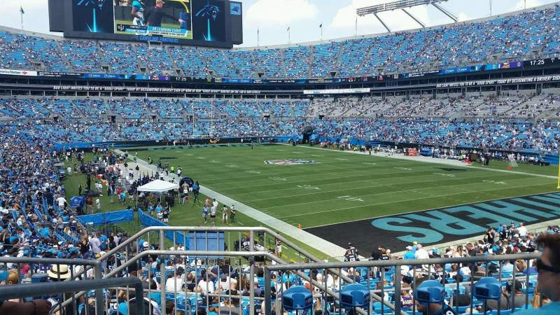 Seating view for Bank of America Stadium Section 233 Row 4 Seat 20