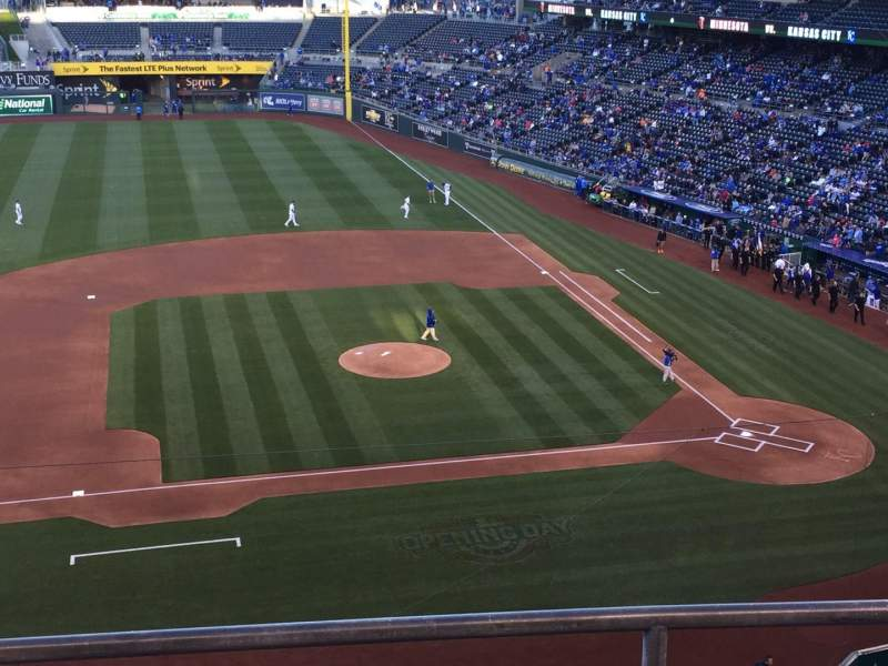 Seating view for Kauffman Stadium Section 411 Row C Seat 19