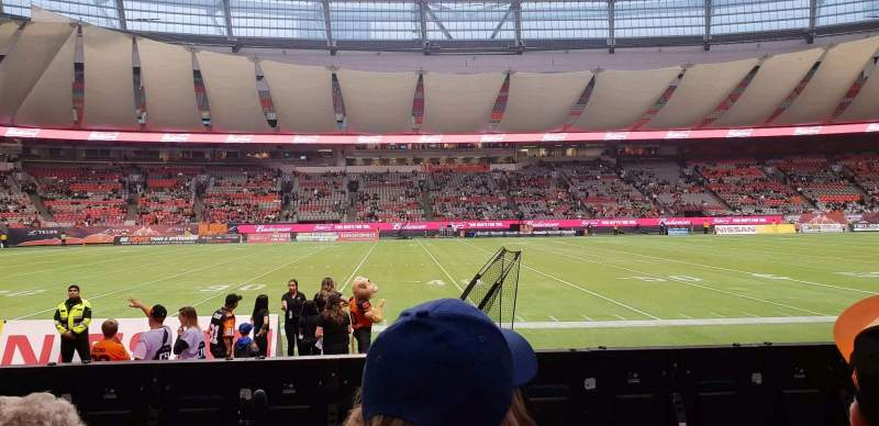 Seating view for BC Place Section 242 Row B Seat 108