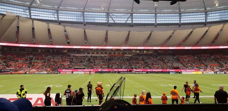 Seating view for BC Place Section 242 Row B Seat 107