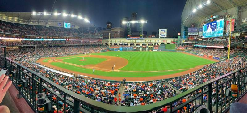 Seating view for Minute Maid Park Section 228 Row 1 Seat 5